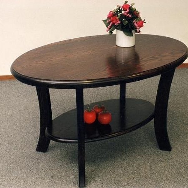 Senioren salontafel ovaal eiken